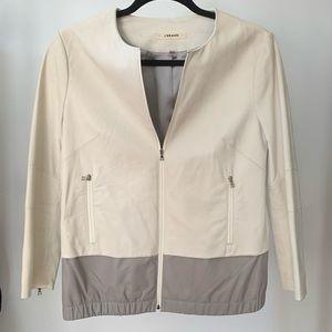 J Brand White Leather Jacket